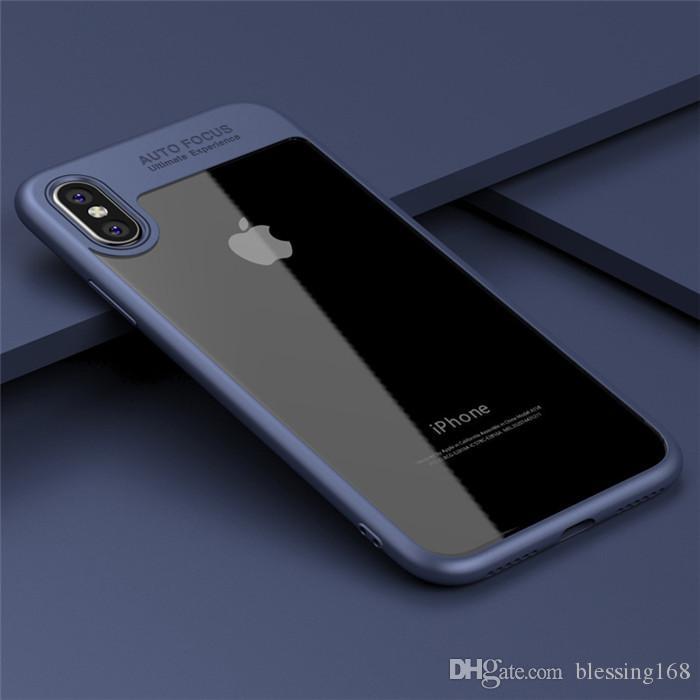 2018 Yeni Tam Koruyucu Kılıf TPU PC Sert Temizle İnce Arka Kapak Kılıf iphone X iPhone 8 8 artı
