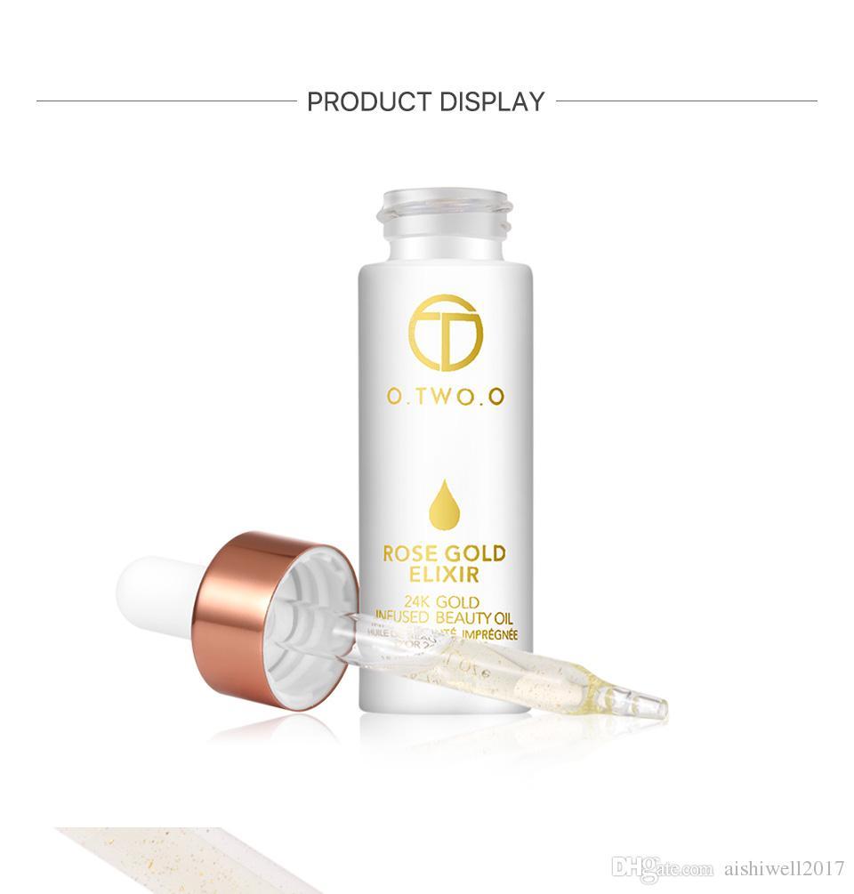 O.TWO.O 24 k Gül Altın Elixir Cilt Makyaj Yağı Yüz Uçucu Yağ Öncesi Astar Vakıf Nemlendirici Yüz Yağı Anti-aging