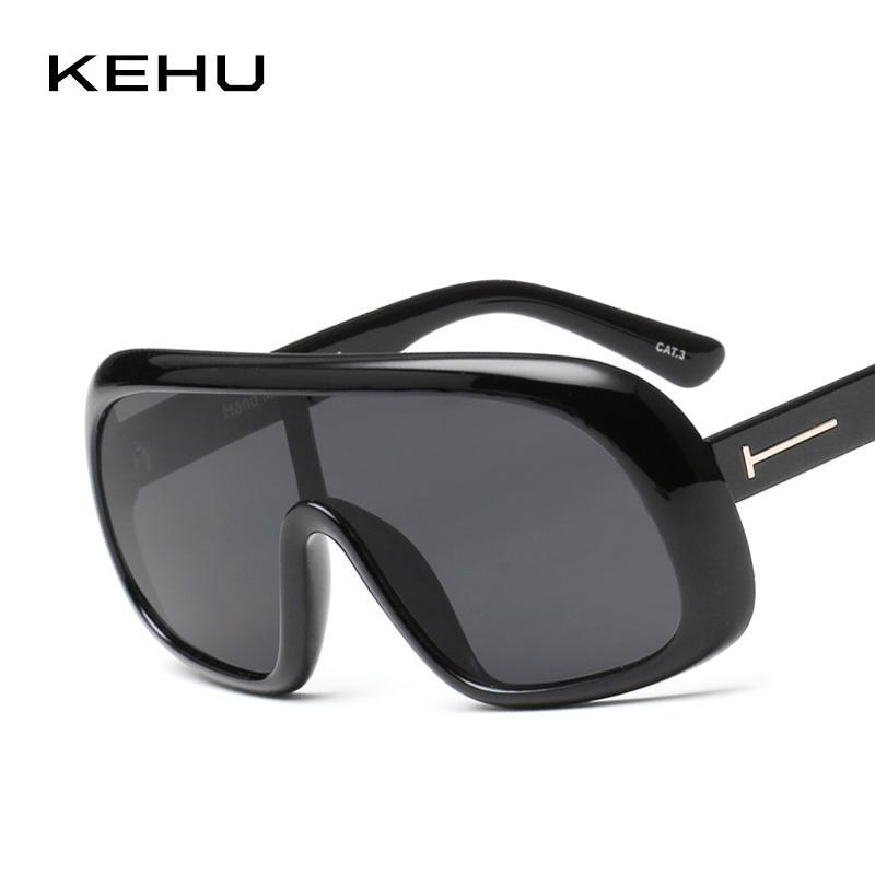 b7c8514703b KEHU Women Oversized Frame Sunglasses Integral Eyeglasses Cool Profile  Sunglasses Designer Designer Oversized Eyeglasses K9520 Sunglasses Cheap  Sunglasses ...
