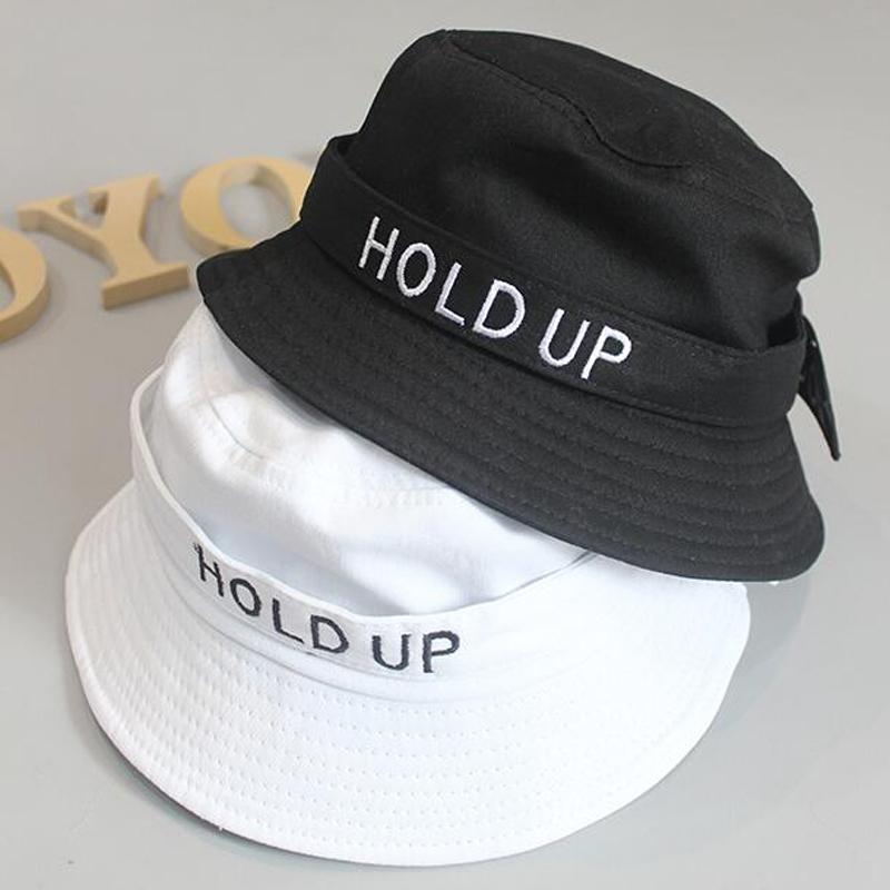2019 2018 New Fashion Cotton Hold UP Bucket Hat White Black Panama Fishing  Cap Boys Girls Fisherman Hats Caps D18110601 From Shen8409 30037e7c65e2