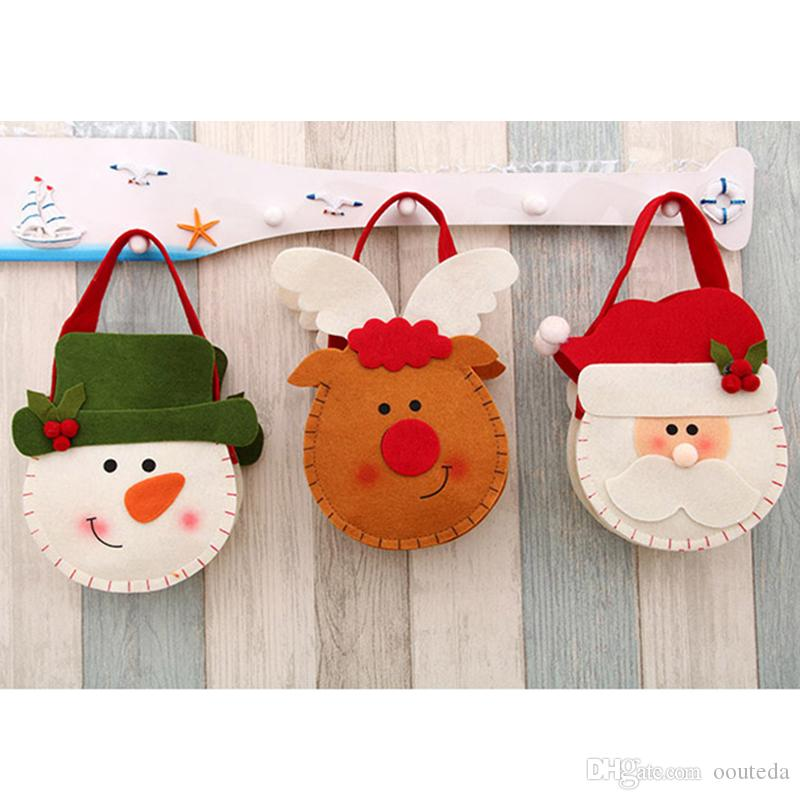 Christmas Gift Bag Candy Bag 20*15cm Flannel Recyclable Cloth ...
