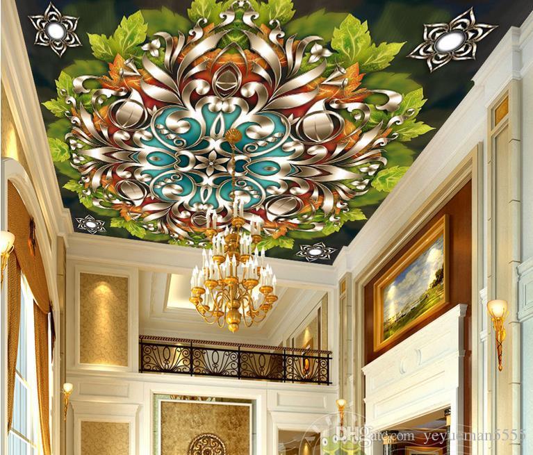 Acheter 3d Plafond Papier Peint Personnalise Luxe Decor A La Maison