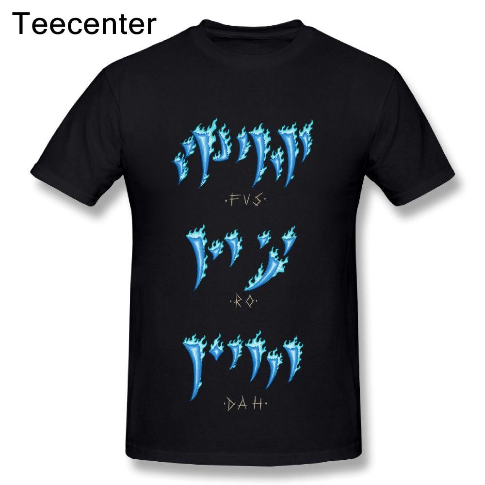 The Elder Scrolls Skyrim Dark Brotherhood We Know Hand Fus Ro Dah Shirt  Novelty Male 100% Cotton Tees