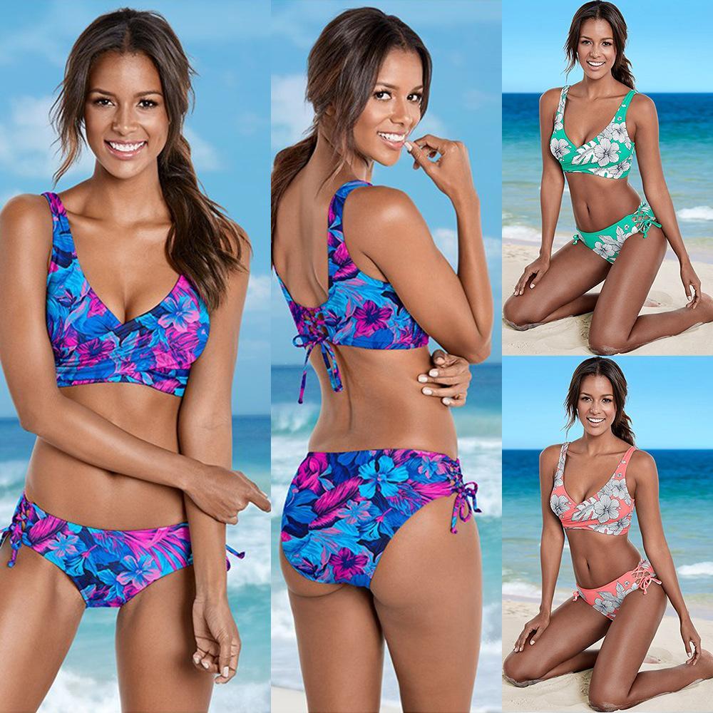 05ad216dcbf New 2018 Women Triangle Bikini Set Halter Neck Two Piece Swimsuit ...