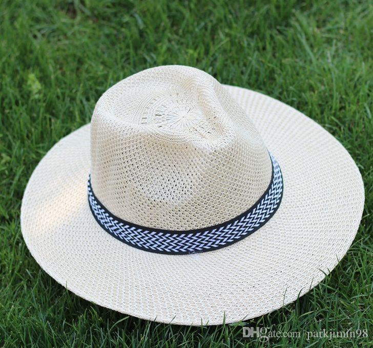 2018 Nw Smmer Fshion Mens Summer Hats Sunscreen Male Summer Folding