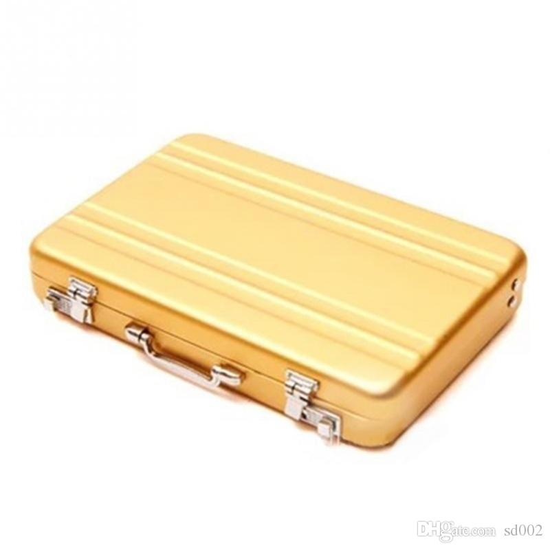 Мини чемодан бизнес картотек чехол Multi цвета высокой ранга алюминиевого сплава держателя карты канцтовары 13ys С Р