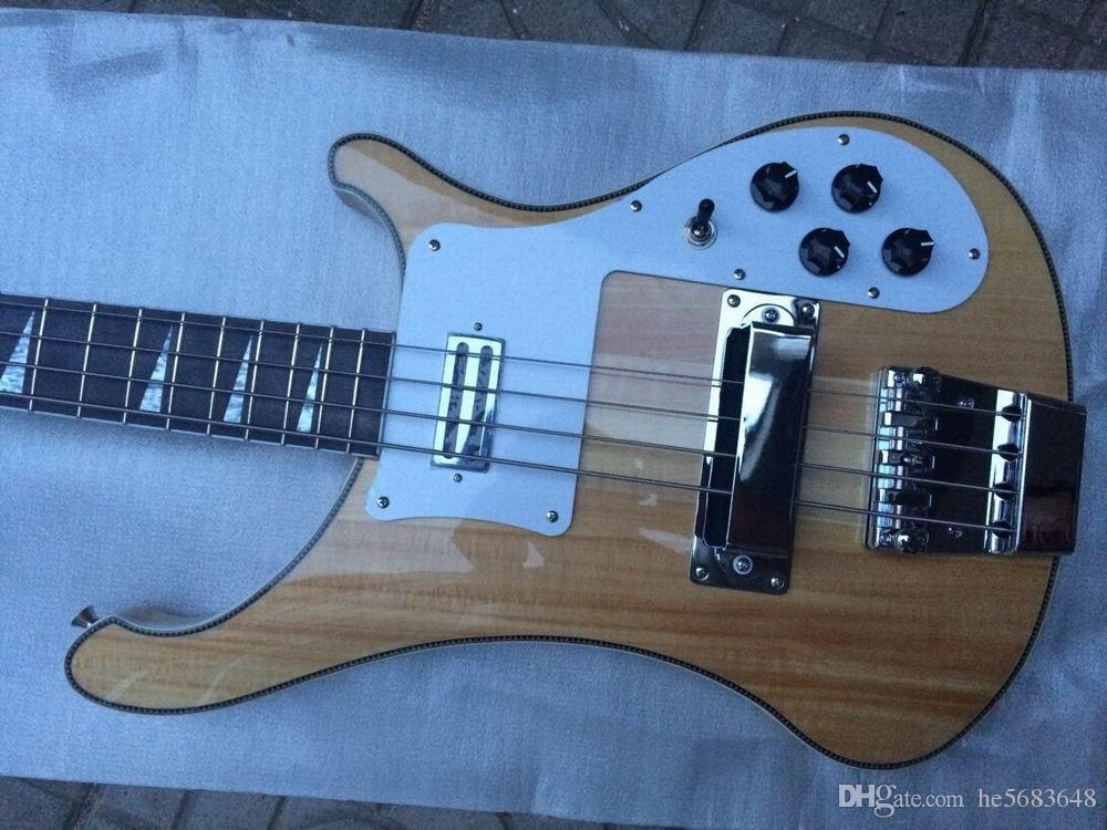 Оптовая Продажа Нового Рика... 4 струнная 4003 электрическая бас-гитара через шею из натурального дерева .Бесплатная Доставка 140815