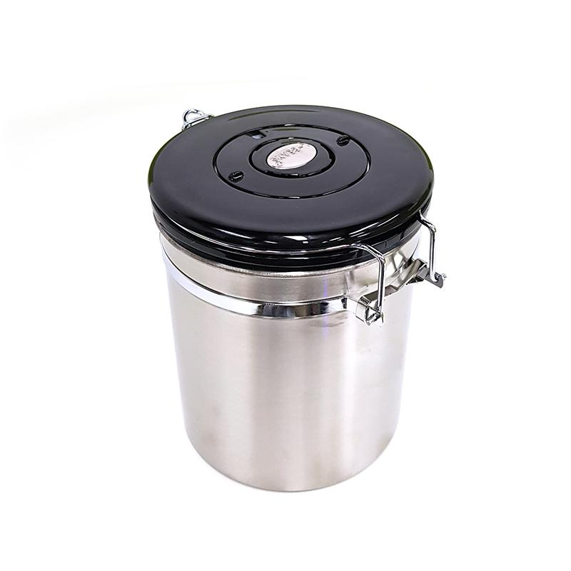 e6b6c15d7 2019 Stainless Steel Coffee Sugar Beans Jar Canister Storage Container  Airtight Vacuum Seal Storage Bean Container From Isaaco