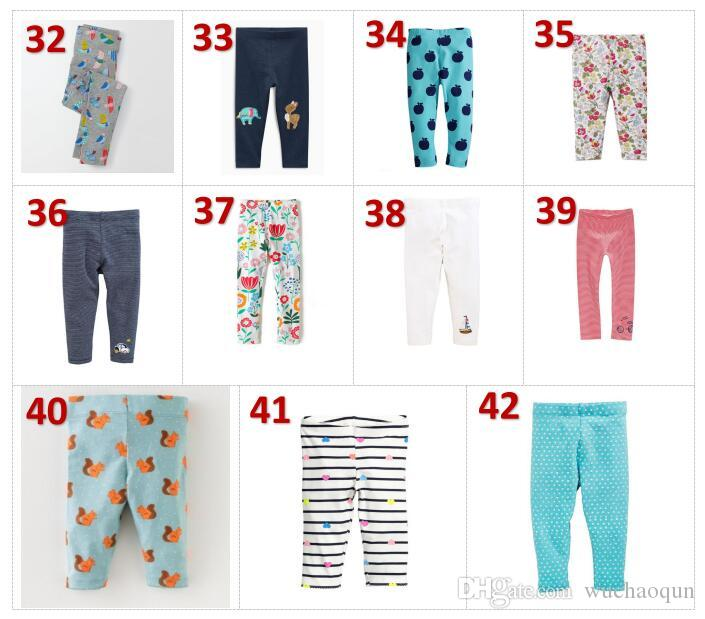 Girls Leggings New Baby Leggings for Girls Pants 100% Cotton Character Print Children Trousers Skinny Pants BY0155