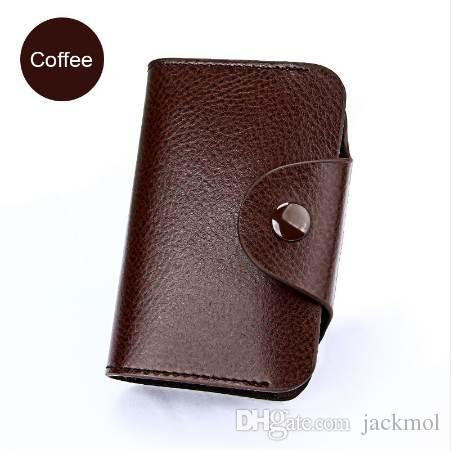 Genuine Leather Business Card Holder Men Bank Id Credit Card Holders