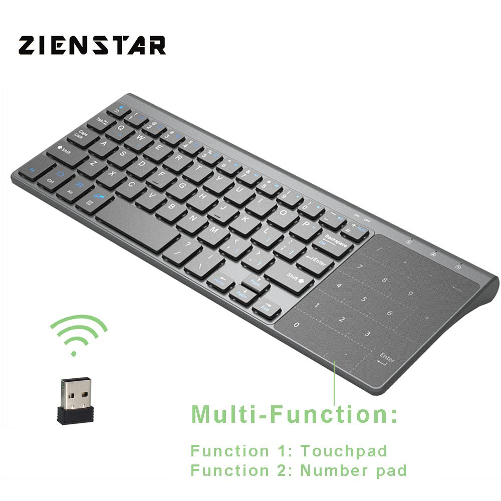 fd5a03d1a58c Zienstar 2.4G Wireless Mini Keyboard with Touchpad and Numpad for Windows  PC,Laptop,Ios pad,Smart TV,HTPC IPTV,Android Box