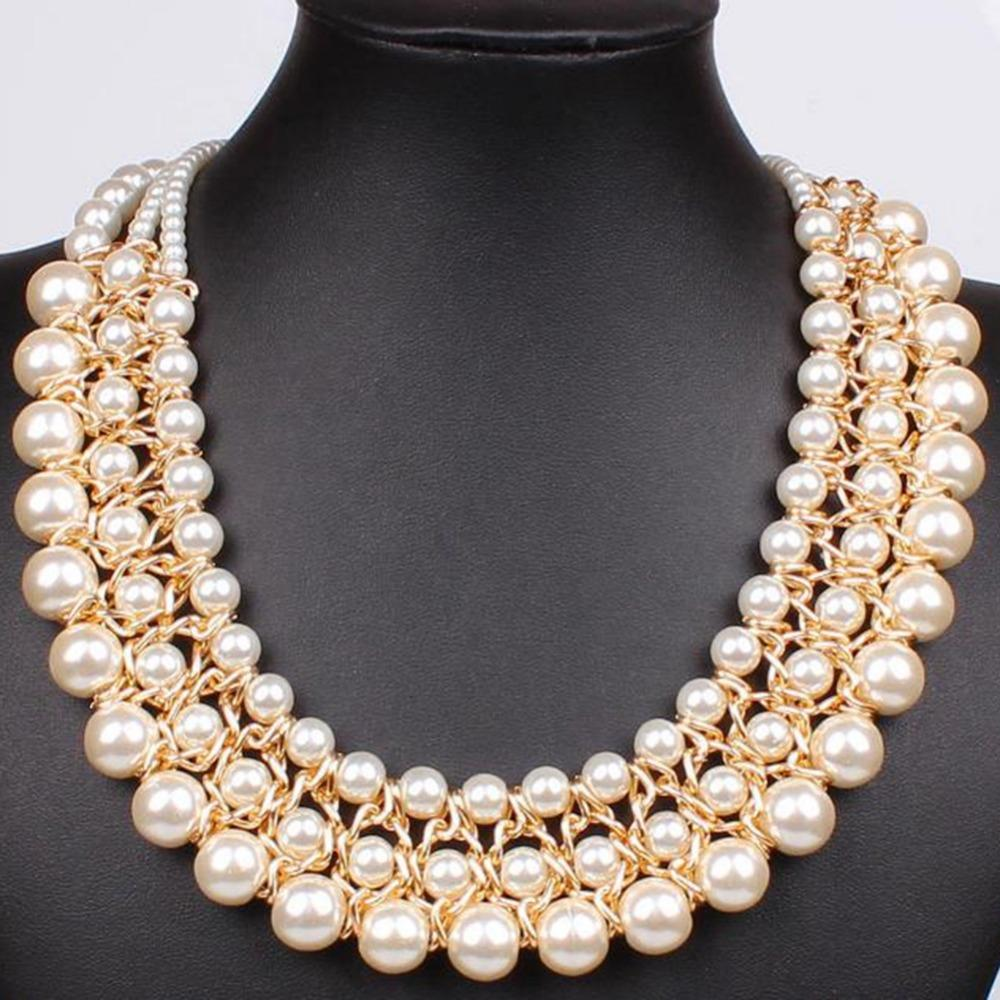 f9626366e321 Compre Tres Modelos De Perlas De Imitación Para Mujer Temperamento Modelos  Salvajes Europa Y Los Estados Unidos De Moda Elegantes Collares Lavanda A   20.32 ...