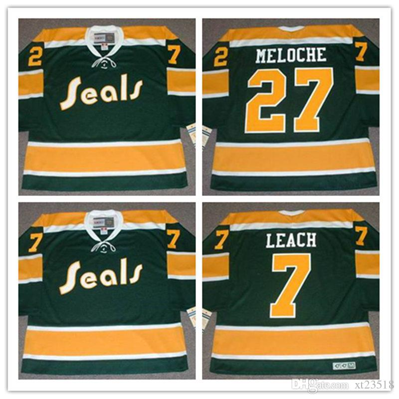 abdc9a394 ... coupon code for 2018 mens custom 1970s california golden seals gilles  meloche jerseys stitched 7 reggie ...