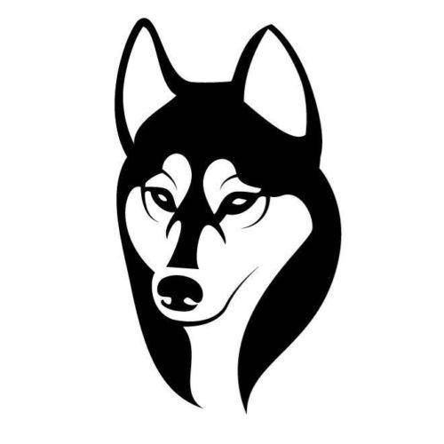 Dog Head Siberian Husky Head Facing Front Car Sticker Vinyl Car Bag Body Decal Animal