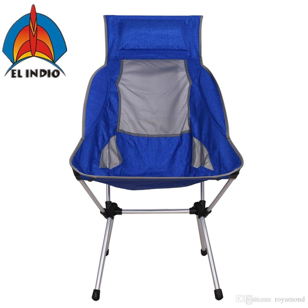 El Indio Portable Lightweight Folding High Back C&ing Chair With Headrest For Outdoor Travel Beach Picnic Backpacking Patio Table Sets Portable C&ing ...  sc 1 st  DHgate.com & El Indio Portable Lightweight Folding High Back Camping Chair With ...