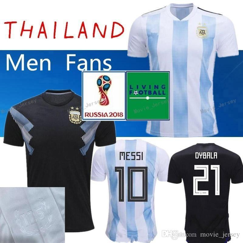 best loved 264f9 b9e9c 2018 World Cup Argentina away Jersey Argentina MESSI DYBALA DI MARIA AGUERO  HIGUAIN soccer shirt home national team POLO Football jersey