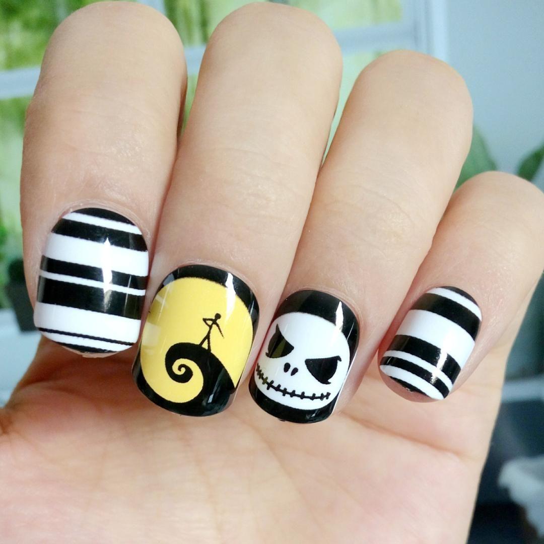 halloween skull nails | www.topsimages