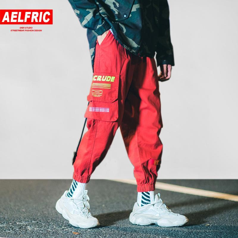 0c02a82913 Compre Aelfric Eden Harem Joggers Mens Skateboard Ropa Deportiva 2018  Bolsillos Moda Casual Harajuku Streetwear Marea Masculina Pantalones De  Chándal B041 A ...