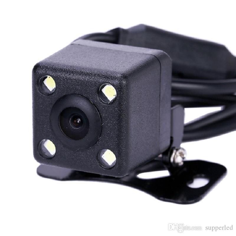 방수 4 LED 나이트 비전 자동차 HD CCD 자동차 후면보기 카메라 주차 지원 카메라 DVD 모니터