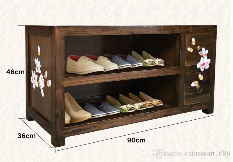 Großhandel Einfache Schuhwechsel Hocker Lagerschrank Test Schuhschrank  Europäischen Modernen Vereinfachten Massivholz Dressing Hocker Von ...