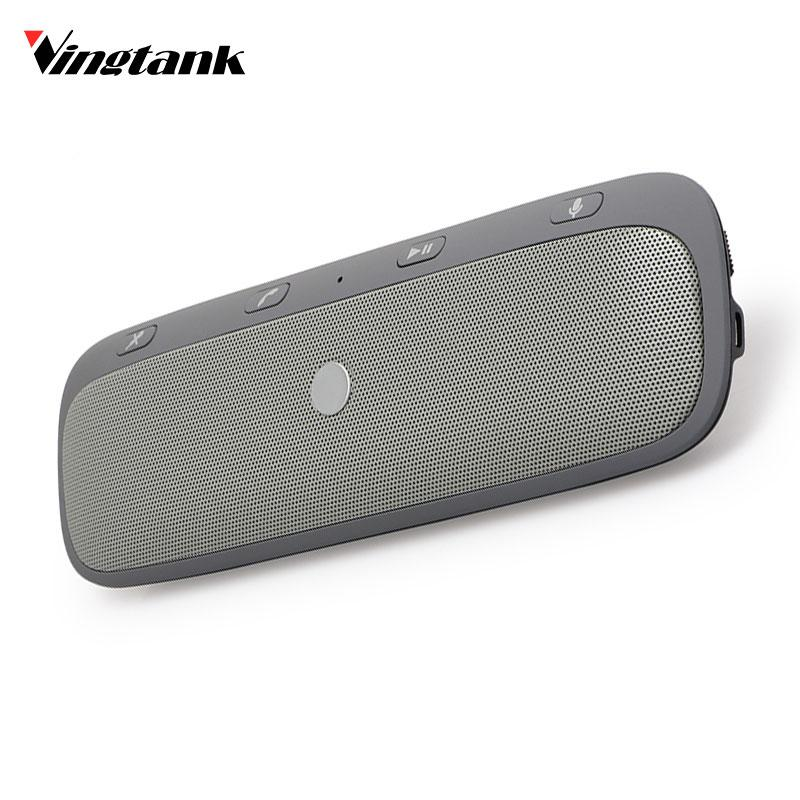 Vingtank Universal Wireless Car Bluetooth Speakerphone Hands-free Car Kit Sunvisor In-Car Speaker Player Charger Speaker