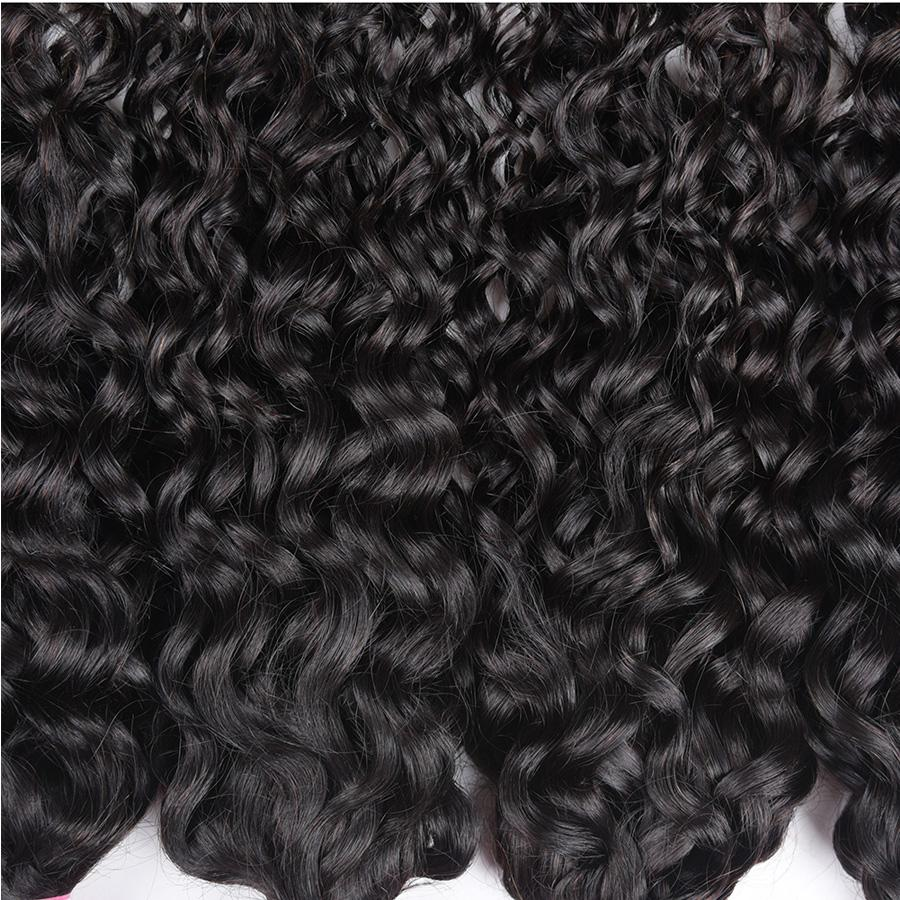 TOMO brasileño de la onda de agua del cabello humano 3 paquetes de ofertas 100% brasileño natural de la onda natural y suave procesado extensiones de cabello humano