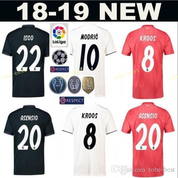 37788053dd4 2019 18 19 Season Men Camiseta De Futbol Real Madrid Soccer Jerseys  Champions 5 VARANE 6 NACHO 19 Odriozola 16 JUNIOR Football Shirt Kits From  Tobe Best