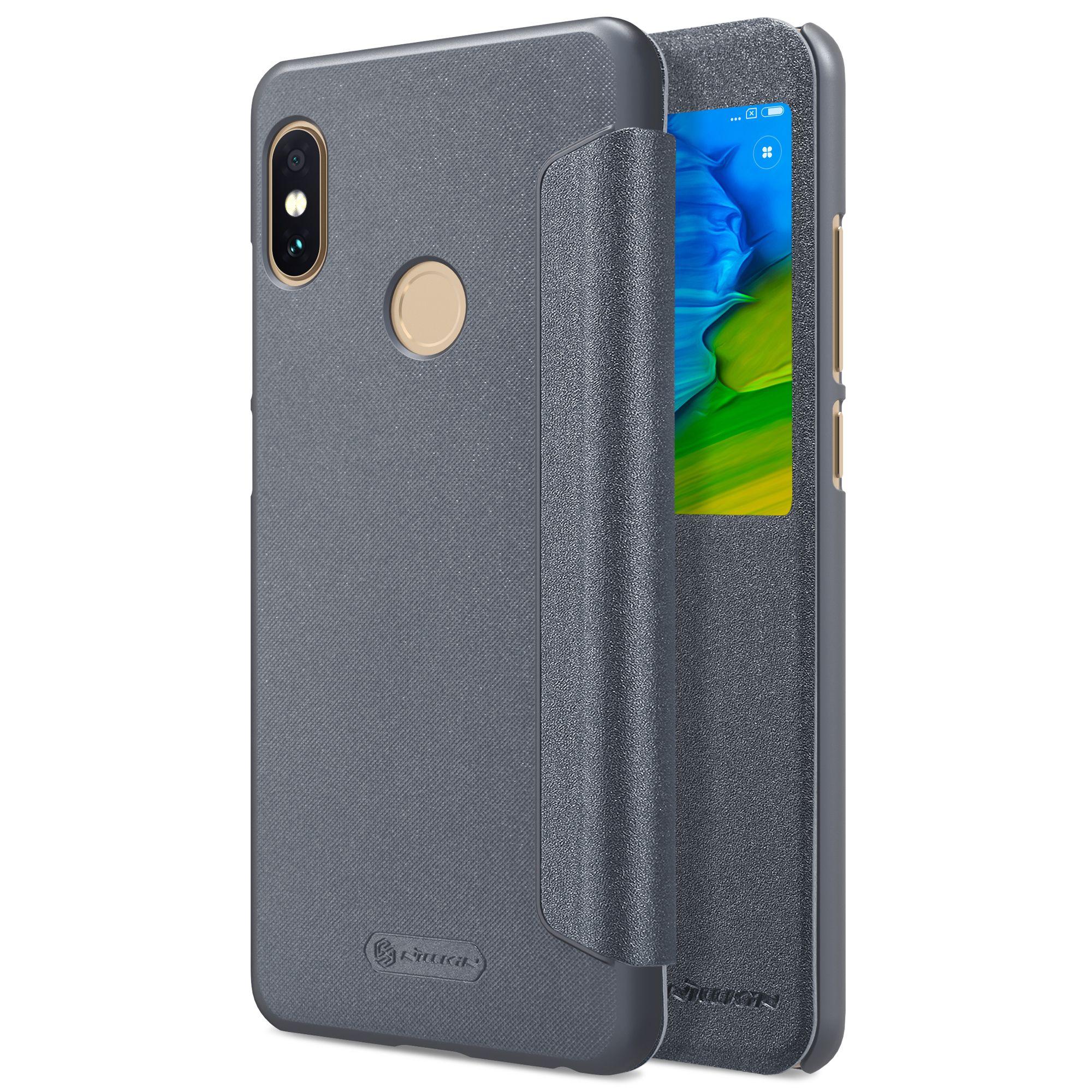 Htc Handy Hüllen Xiaomi Redmi Hinweis 5 Pro Fall Globale Version Redmi Note 5 Fall Nillkin Sparkle Serie Hartplastik Pu Leder Flip Cover Htc e Hülle Von