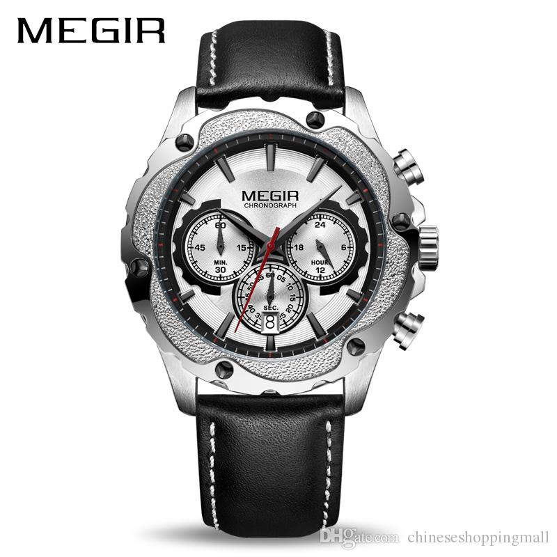 5a48a0b3e08 MEGIR Chronograph Sport Watch Men Relogio Masculino Top Brand Luxury Army  Military Watches Clock Men Creative Quartz Wrist Watch Watch Online  Shopping Shop ...