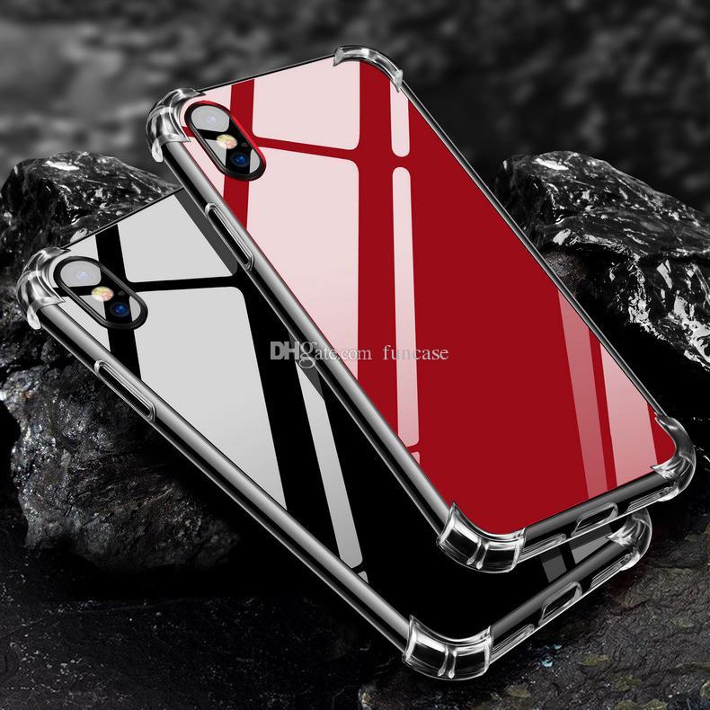 Luxury Mirror Air Cushion Reflect Girly Cute Anti Shock Soft TPU Bumper + Acrylic Back Hard Case Cover for iPhone XS Max XR X 8 Plus 7 6 6S