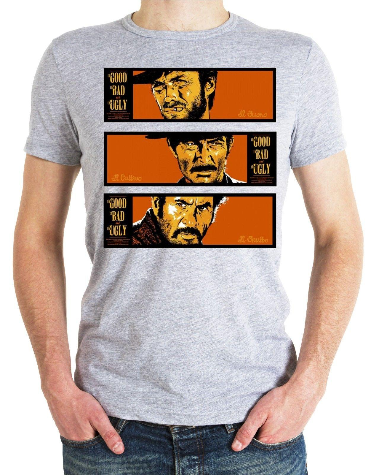 The Good The Bad & The Ugly T-Shirt MOVIE FILM COWBOY 60S 70S Clint Eastwood 3 Cool Casual pride t shirt men Unisex New