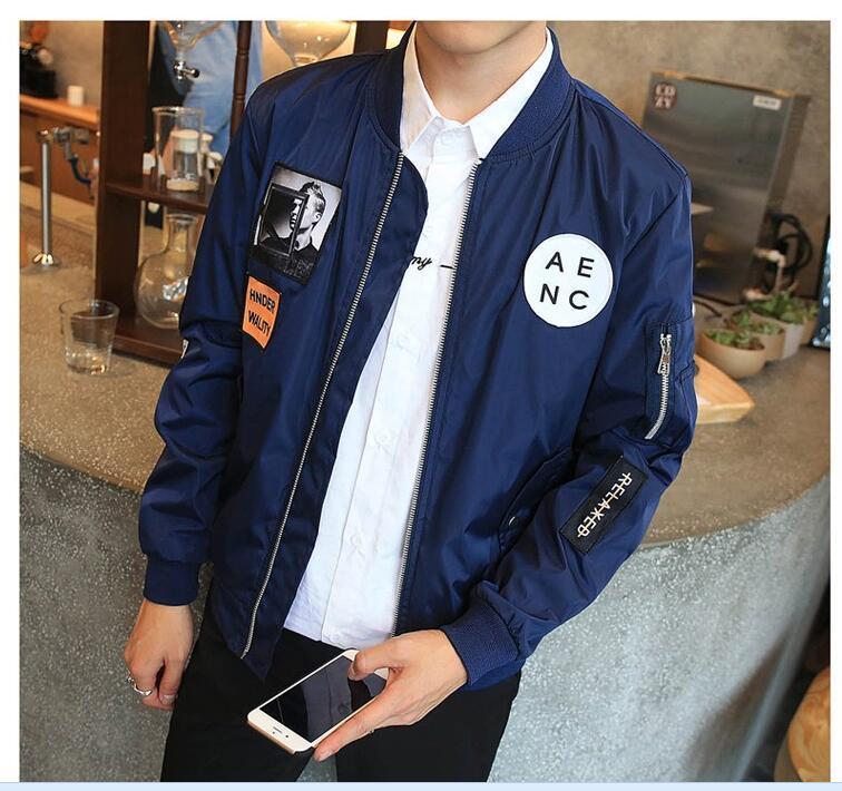 1577a21e2a2 Men Bomber Jacket Hip Hop Patch Designs Slim Fit Pilot Bomber Jacket Coat  Men Jackets Plus Size 4xl New Denim Parka Coat Womens Denim Jacket With Fur  Collar ...
