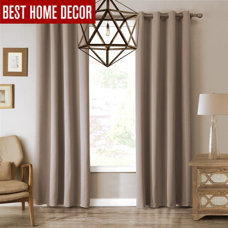 2019 Modern Blackout Curtains For Living Room Bedroom Curtains For