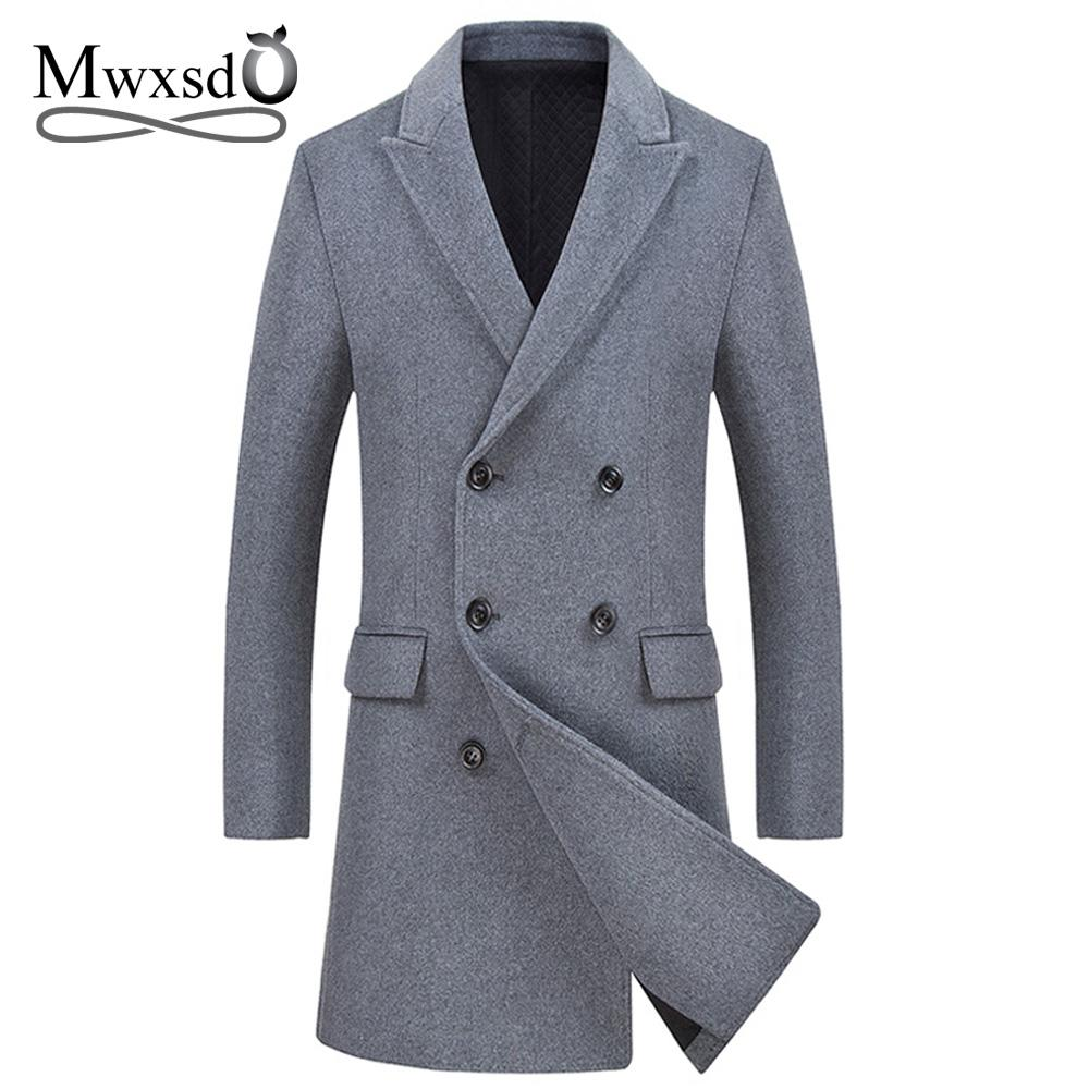 f1c307346b73 Mwxsd Brand Mens Winter Warm Wool Jacket And Coat Men Long Woolen Warm  Blend Jacket Male Grey Coat Brand Clothing Men Leather Jackets Corduroy  Jacket From ...
