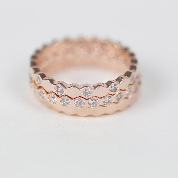 7d4cbc472d1e Compre Envío Gratis De Moda De Alta Calidad De Plata De Oro Rosa Panal Con  Anillo De Diamante Anillo De Cristal De Circón Regalos De Día De San  Valentín ...