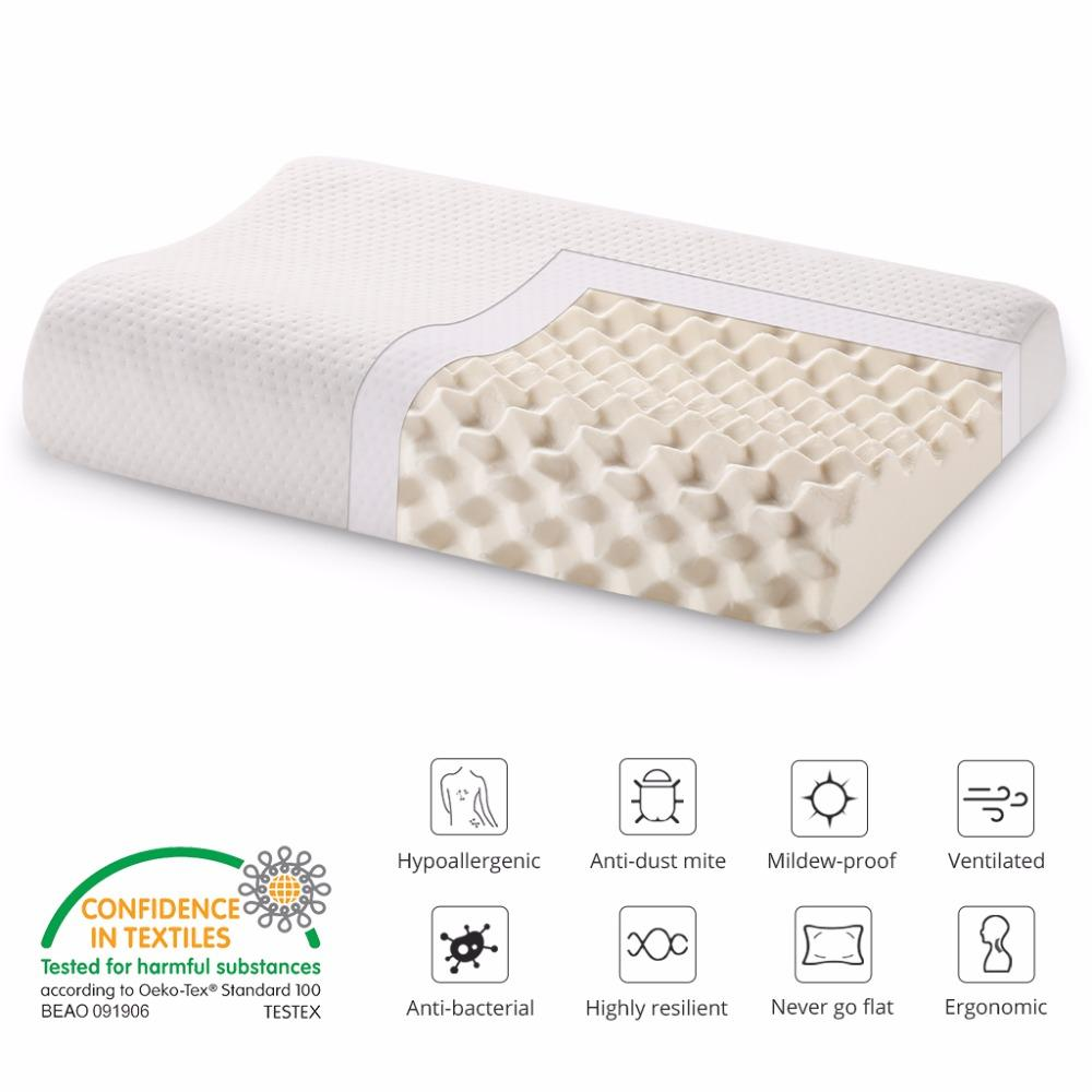 Langria Thailand Natural Latex Pillow Bedding Bedroom