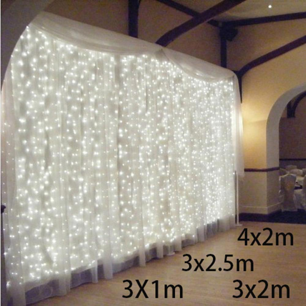 3x1/3x2/4x2m Led Icicle Led Curtain Fairy String Light Fairy Light ...