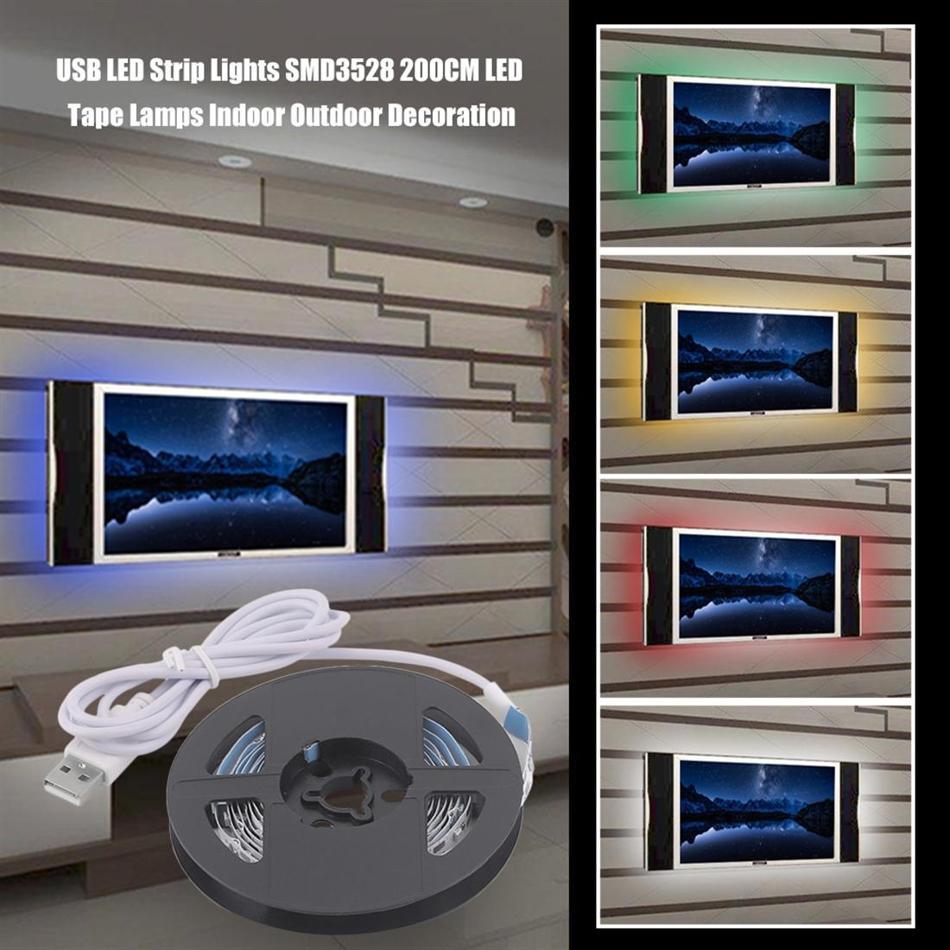 Usb Led Strip Light Tv Background Lighting Dc 5v Flexible Diode Tape