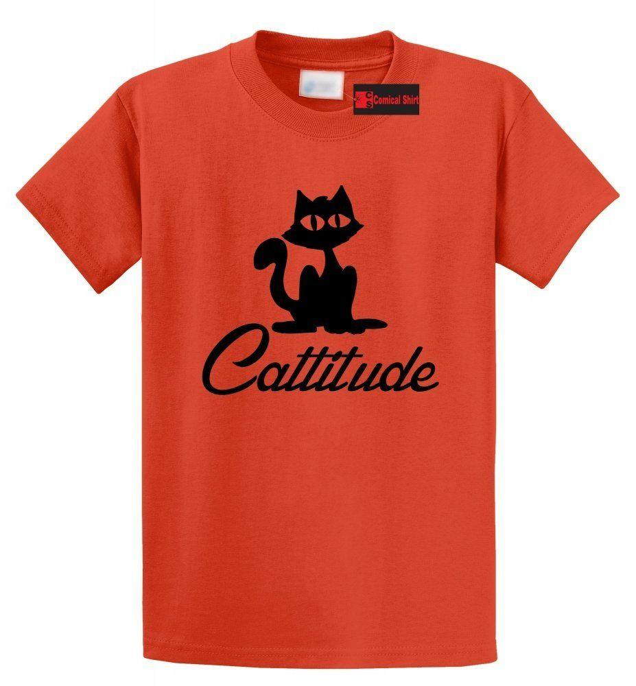 34199c04439 Cattitude T Shirt Cute Cat Lover Gift Tee Shirt Kitten Cat Lady Tee Funny  Unisex Casual Tee Gift Tie Shirts Latest T Shirt Designs From Elite direct