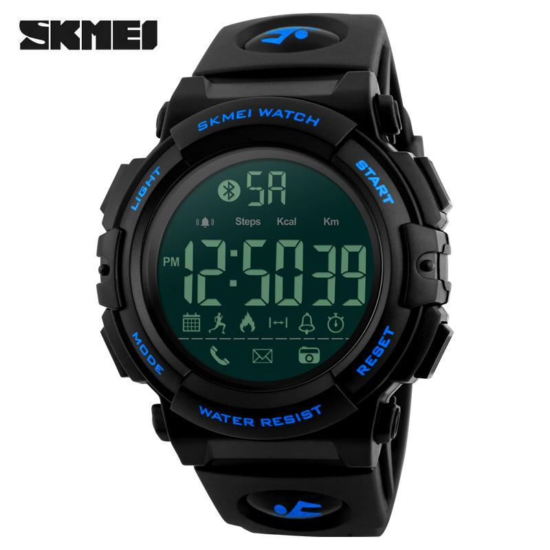 28215de7eed SKMEI Brand Smart Sports Watches Mens Digital Wristwatches Remote Camera  Call Reminder Bluetooth Smartwatches Relogio Masculino 1303 Watch Sale  Automatic ...