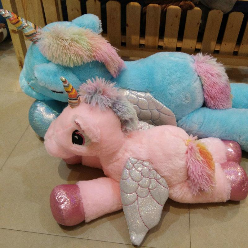 60 90cm Kawaii Unicorn Plush Toys Giant Stuffed Animal Horse Toys