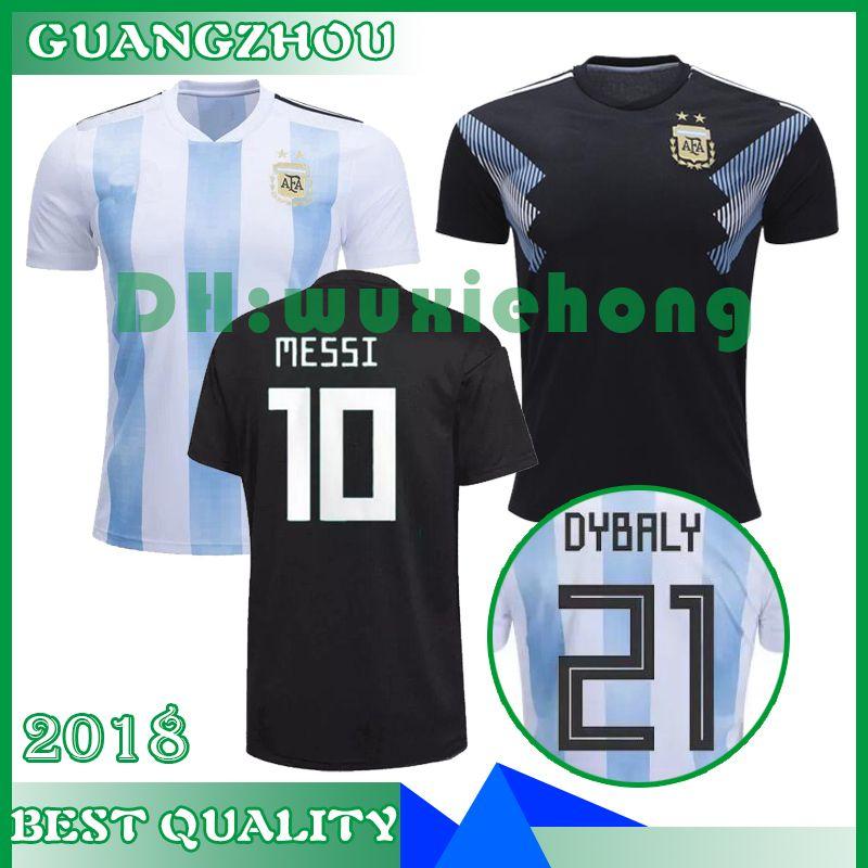 online store d29c2 f0af0 Thailand World cup 2018 ARGENTINA Soccer Jerseys camisa de futebol MESSI  Jersey DYBALA HIGUAIN DI MARIA ICARDI Football kit soccer shirt