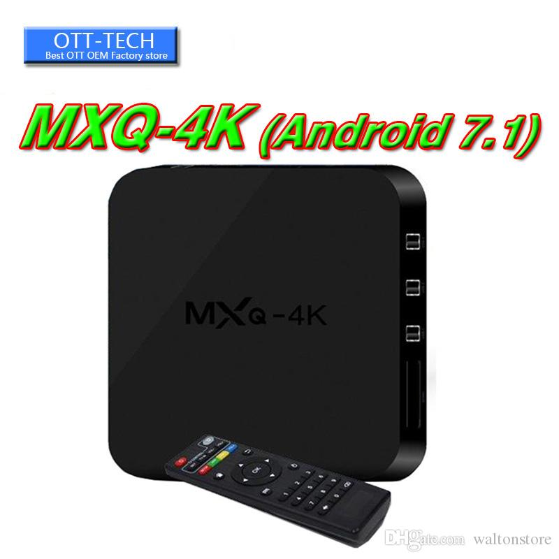 MXQ PRO MXQ 4K Android 7.1 Quad Core Android TV BOX Rk3229 With App Loaded OTT IPTV Smart TV Boxes
