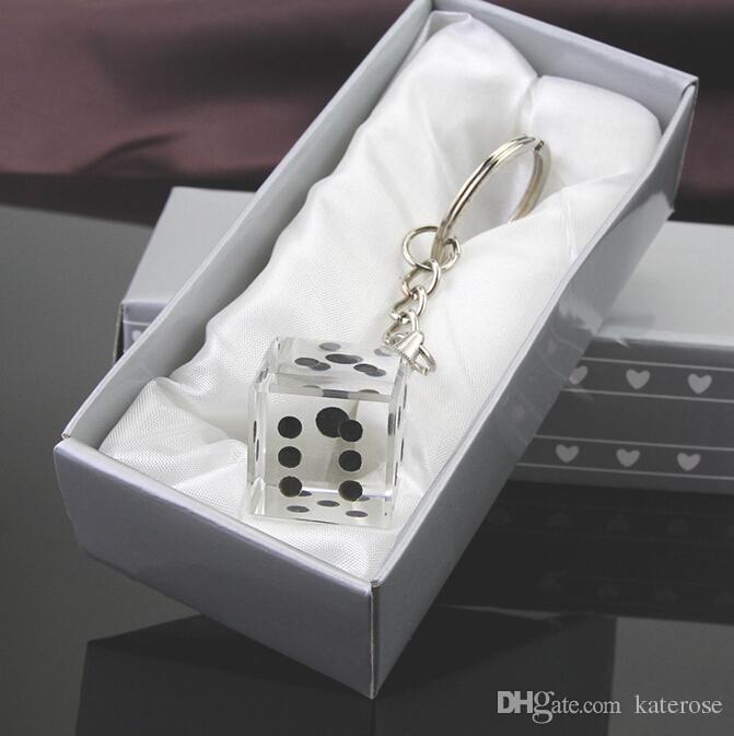 las vegas themed weddingbridal shower favors chrome keychain with crystal dice crystal dice keychain las vegas themed wedding weddingbridal shower favors