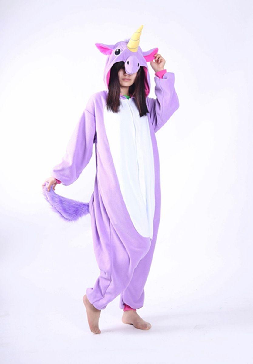 New Cartoon Animal Onesie Sleepwear Pyjamas Women Pijama Cosplay Adult Unicorn Pajamas one piece