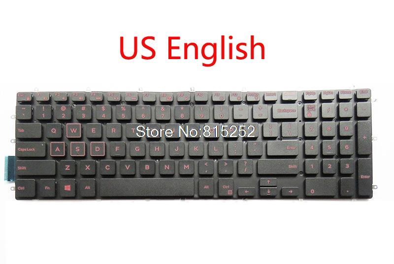 Keyboard For DELL For Inspiron 15 7577 7567 7566 5567 5565 black US English  red Latin America LA UK United Kingdom RU Russia new
