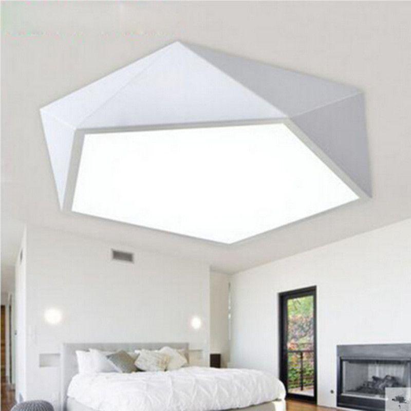 Großhandel Moderne Decke LED Lampe Geometrisches Polygoneisen ...