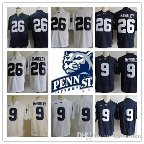 new style 2c23c 2c973 ... coupon code for youth mens penn state nittany lions 26 saquon barkley 9  trace mcsorley no