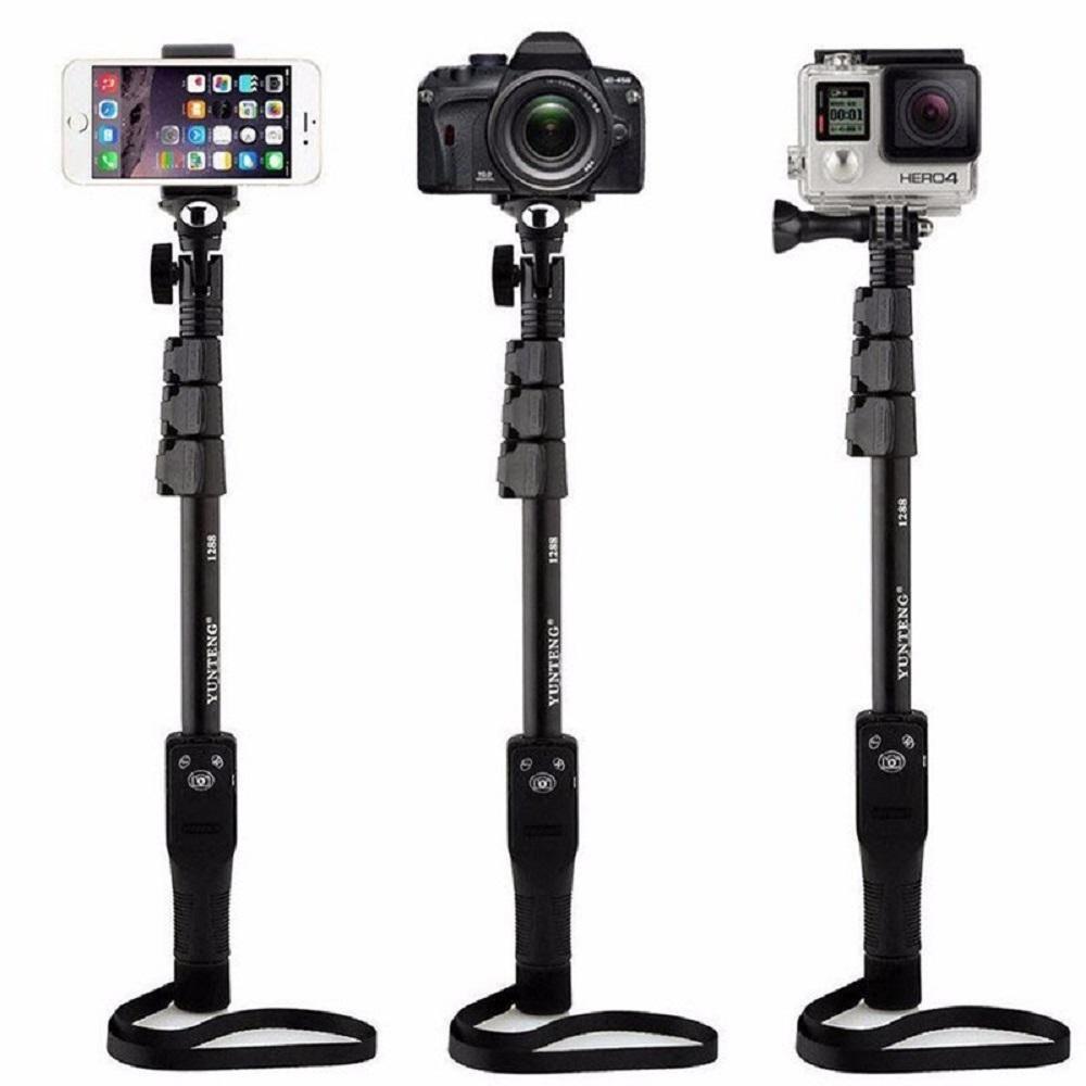 Merci di qualità yunteng 1288 bluetooth wireless estensibile selfie selfie bastone monopiede con zoom iPhone samsung selfie stick
