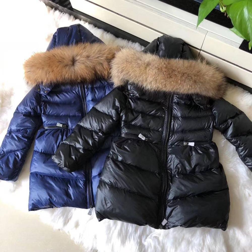 24e96ac08 Kids Clothing Long And Warmer New Baby Coat Winter Warmer Down Jacket 30  Degreen Russian Real Reccoon Fur Outwear KidsE288666 Coats Boys Kids Coats  Girls ...